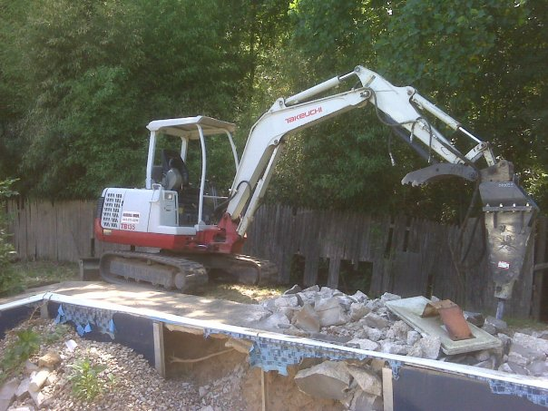 Carroll Bros. Contracting Swimming Pool Demolition in Laurel Maryland