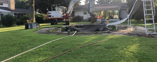 Concrete Pool Removal on Kent Island Maryland
