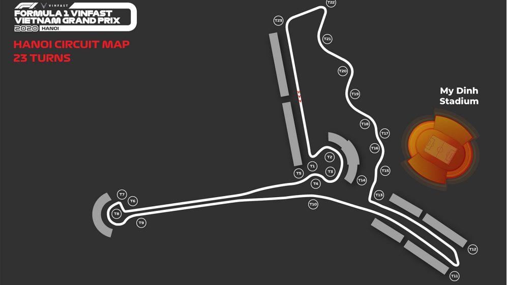 Novo circuito do Vietnam terá 23 curvas e longa reta