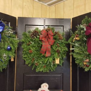 Fresh, evergreen wreaths
