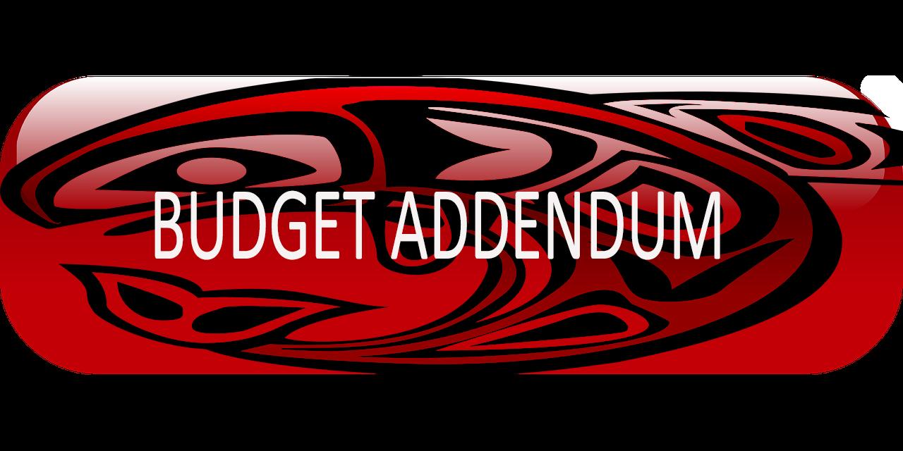 BUTTON Budget Addendum