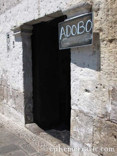 Adobo sign, Arequipa, Peru photo