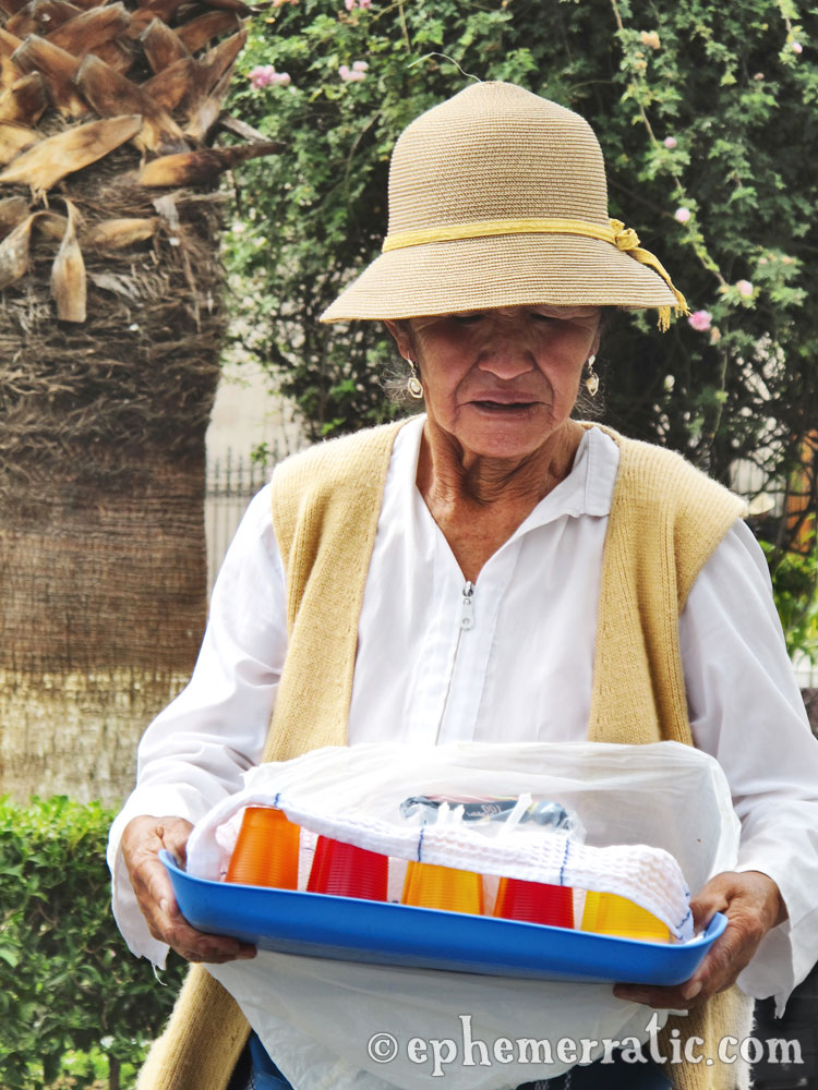Jello vendor, Arequipa, Peru photo