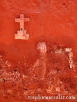 Cross in red, Santa Catalina Monastery and Convent, Arequipa, Peru photo