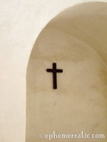 Cross in white, Santa Catalina Monastery and Convent, Arequipa, Peru photo