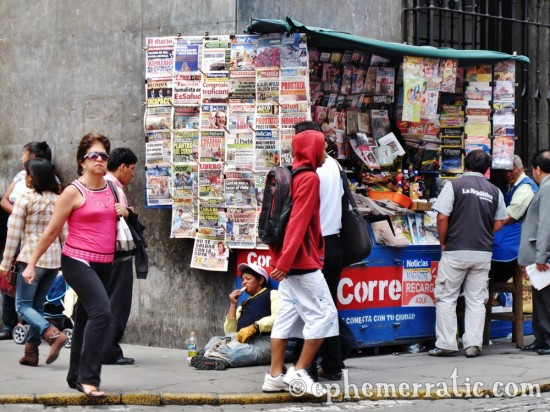 Newsstand corner, Arequipa, Peru photo