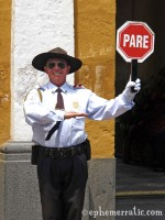 Too happy traffic cop, Arequipa, Peru photo