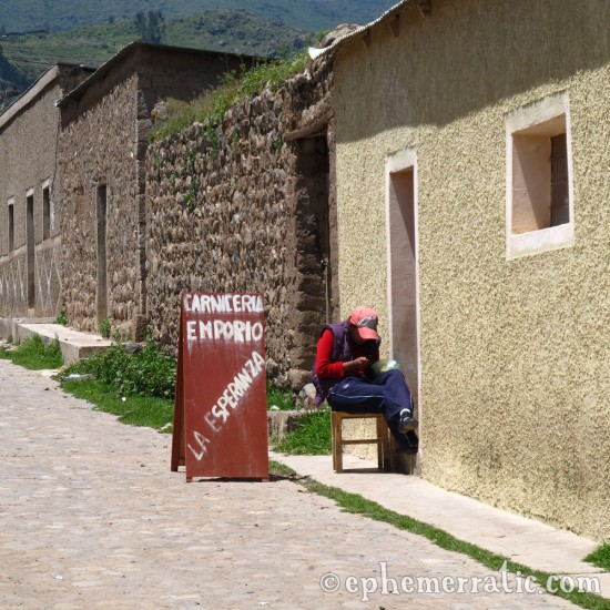 Open for business, Cabanaconde, Colca Canyon, Peru photo