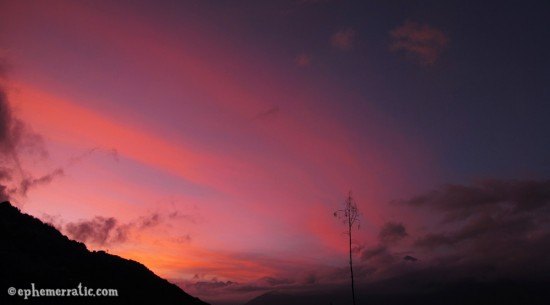 Sunset over Cabanaconde, Colca Canyon, PeruCabanaconde, Colca Canyon, Peru