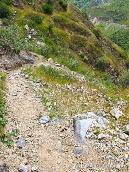 Calling this a trail is generous, Colca Canyon, Peru