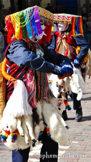 Cápac Colla dancers, Saint Joseph's Day, Cusco, Peru photo
