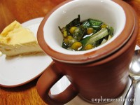 Happiness Tea and quark cheesecake, Granja Heidi restaurant, Cusco, Peru photo