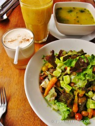 Quinoa soup and farm salad, Greens Organic Restaurant, Cusco, Peru photo