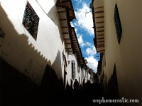 Shadows and sunlight, Cusco, Peru photo