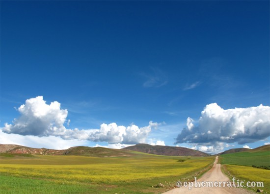 Scenic back road in Peru's Sacred Valley photo