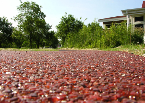 recycled glass paving