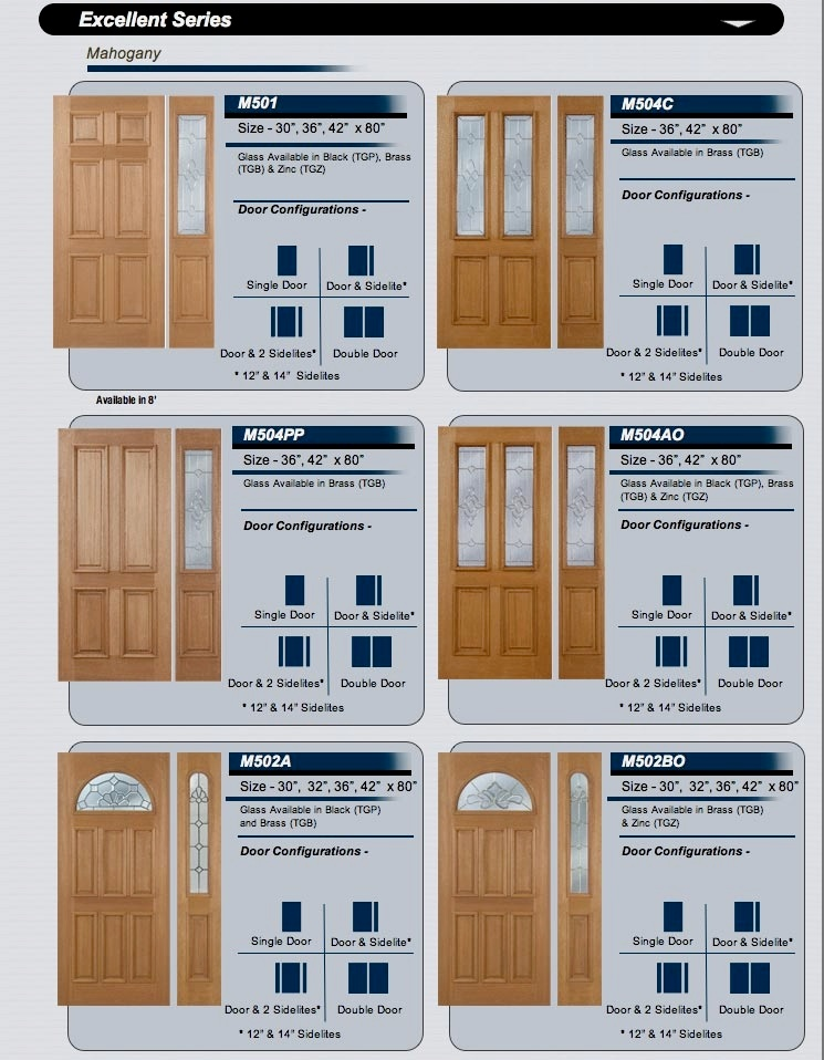 beveled glass . wrought iron . mahogany doors 106