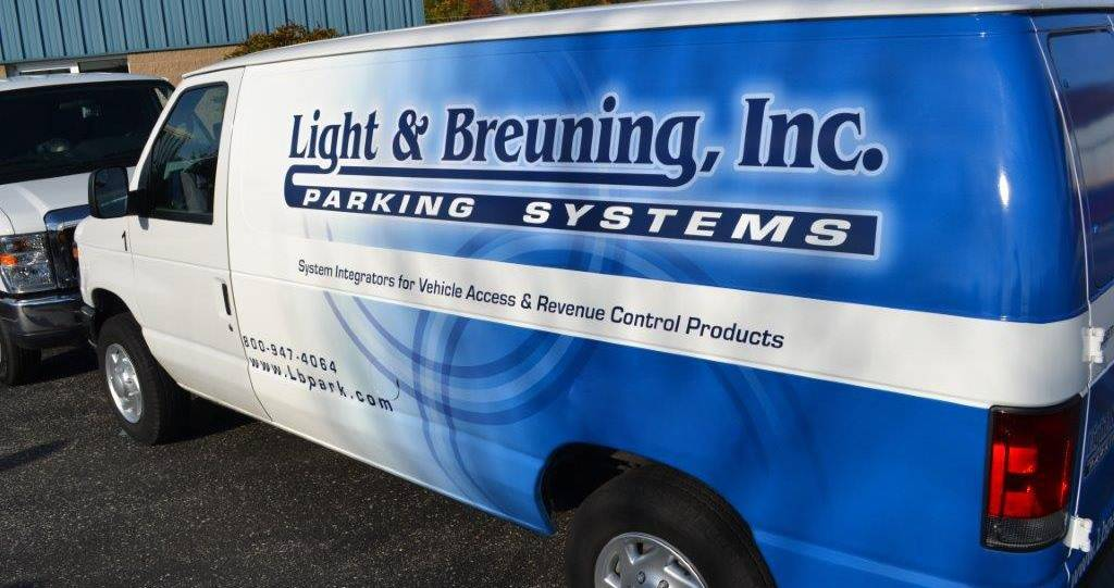 Image of Light and Breuning's service Van