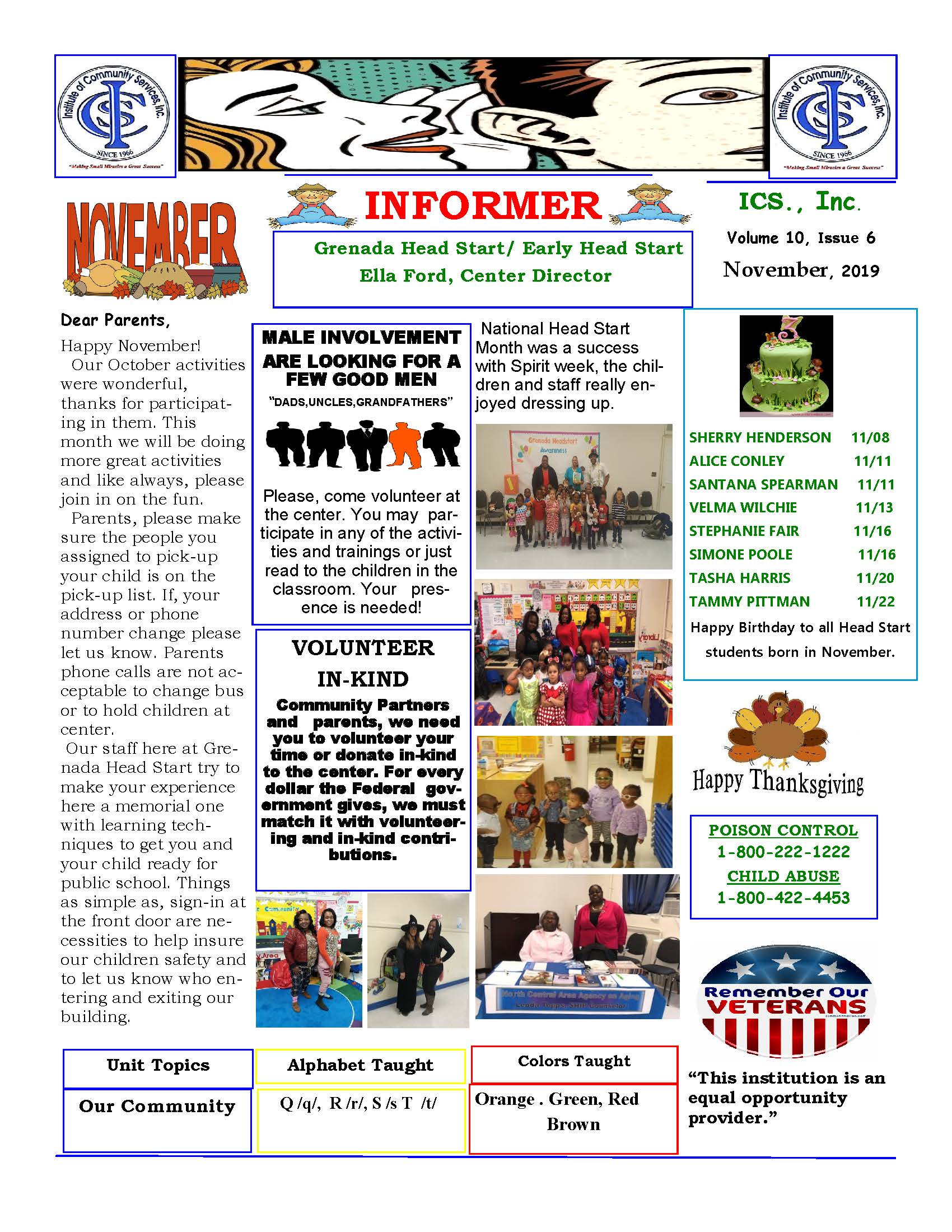 Grenada Head Start Newsletter November 2015_Page_1