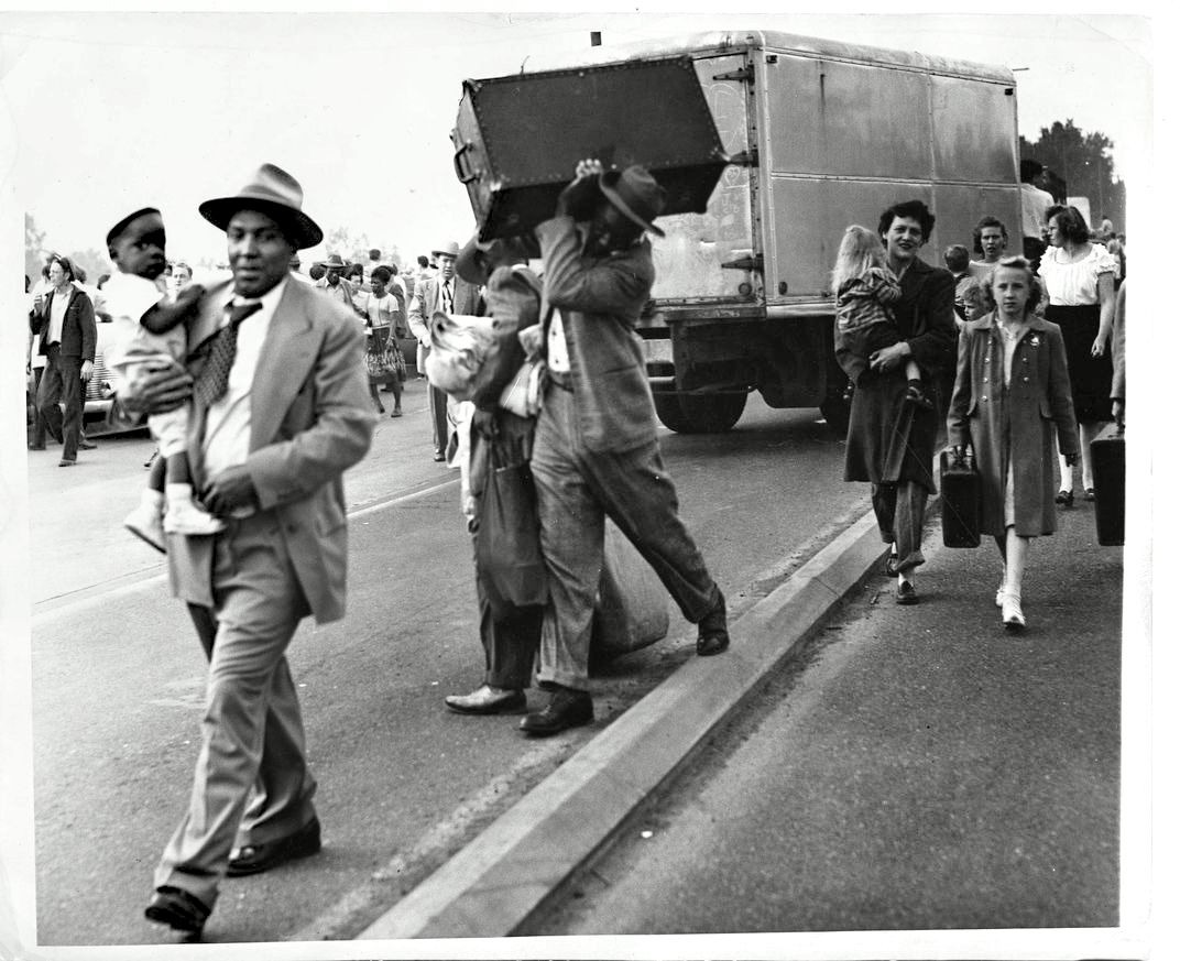 Vanport residents displaced by the 1948 floods (Source: Oregon Historical Society)