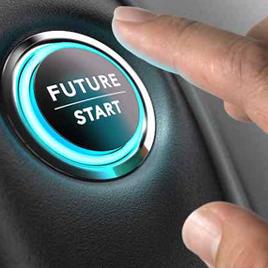 Finger touching future start button