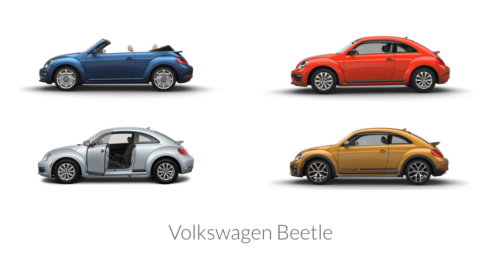 Example of the Volkswagen beetle modular design