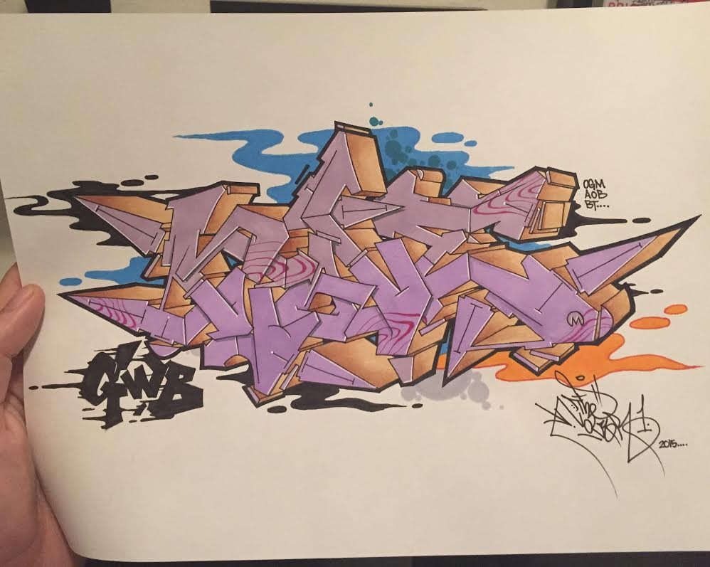 Nover, Markers & Pen in Blackbook, 2015.