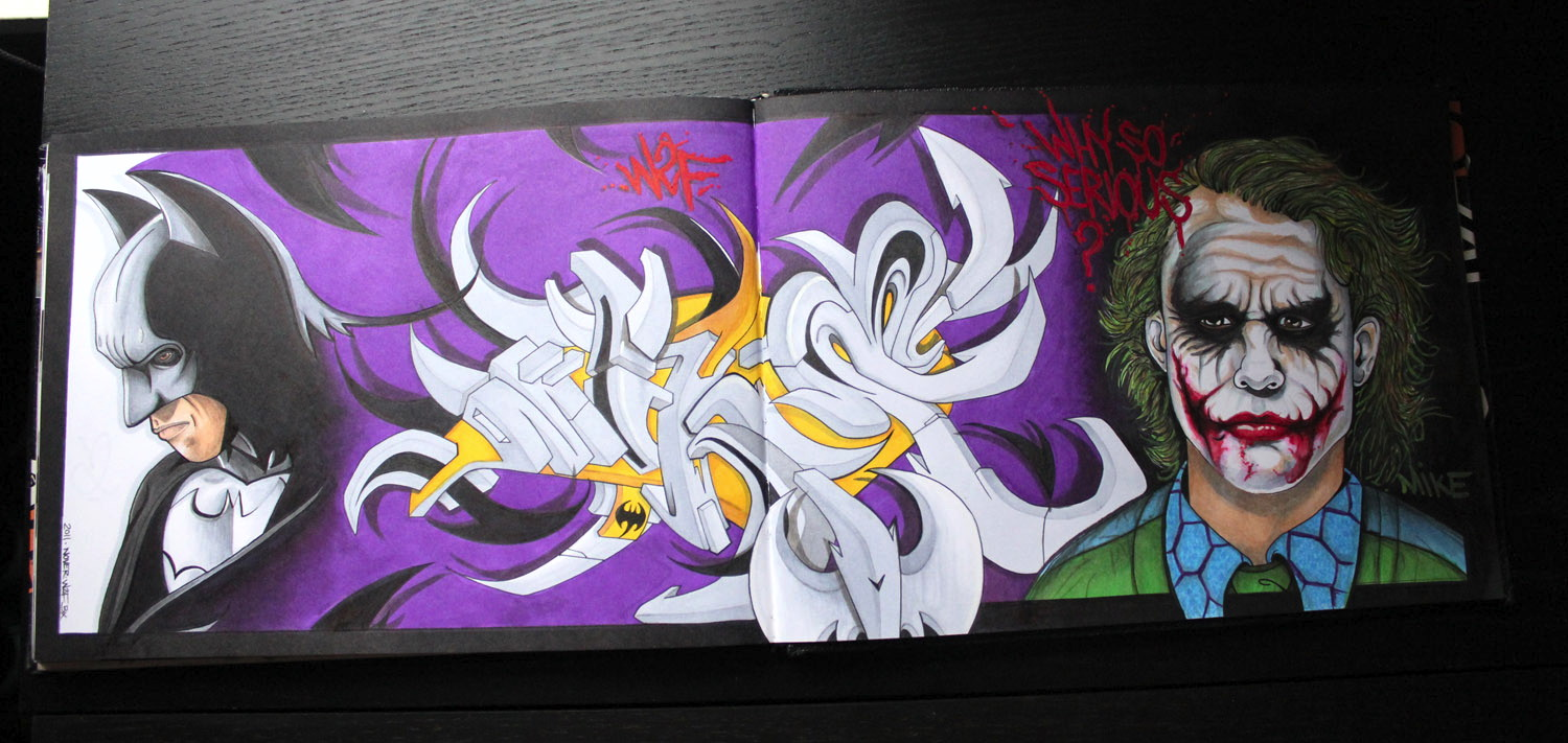 Batman x Joker Blackbook work by NOVER, 2012.