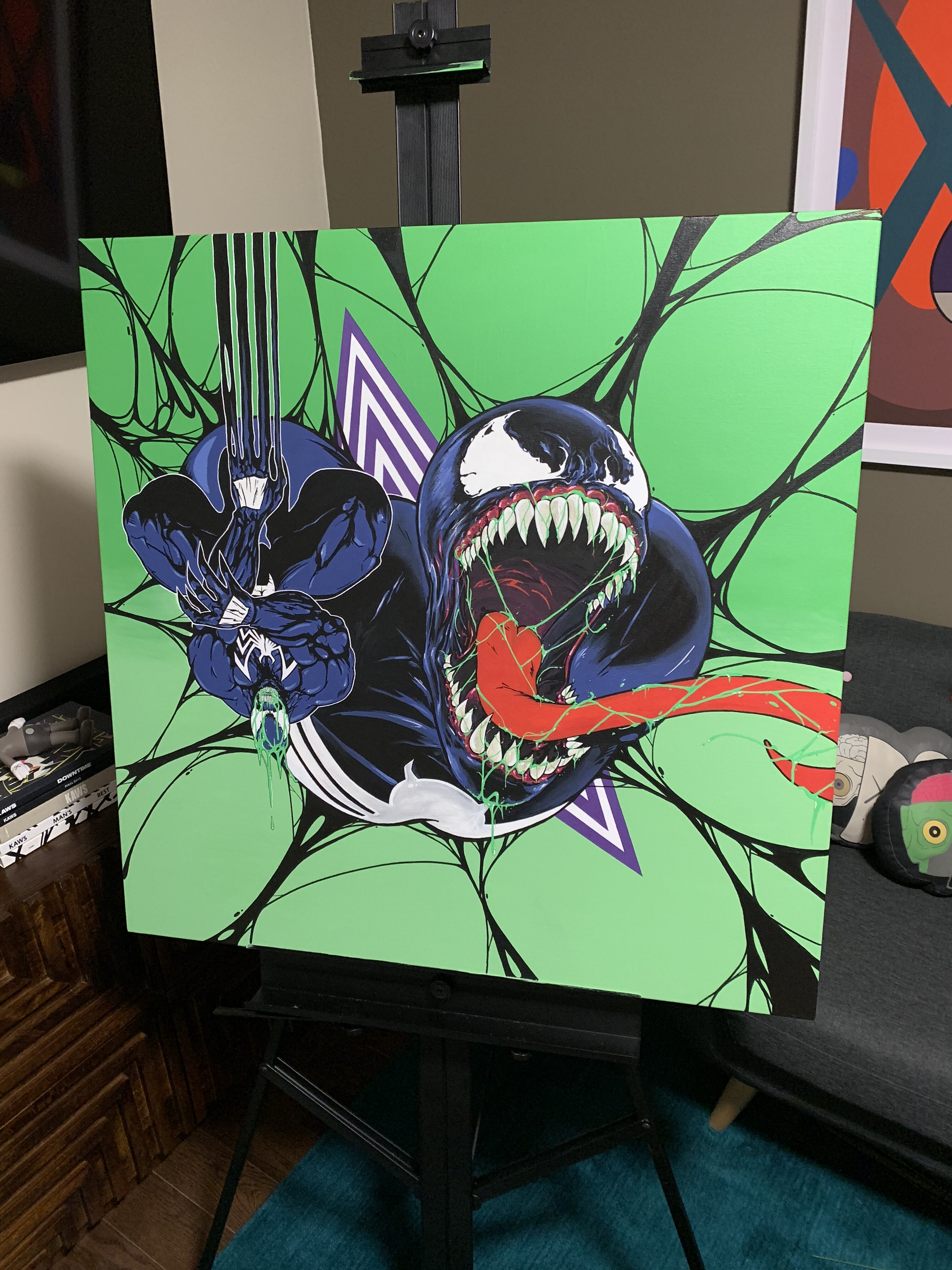 "Venom by Nover, 36x36"", Paint on Canvas, 2019."