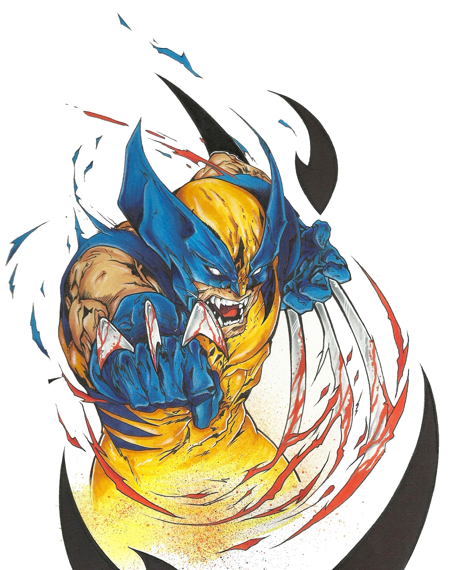 Wolverine by Nover, Markers on Paper, 2014.