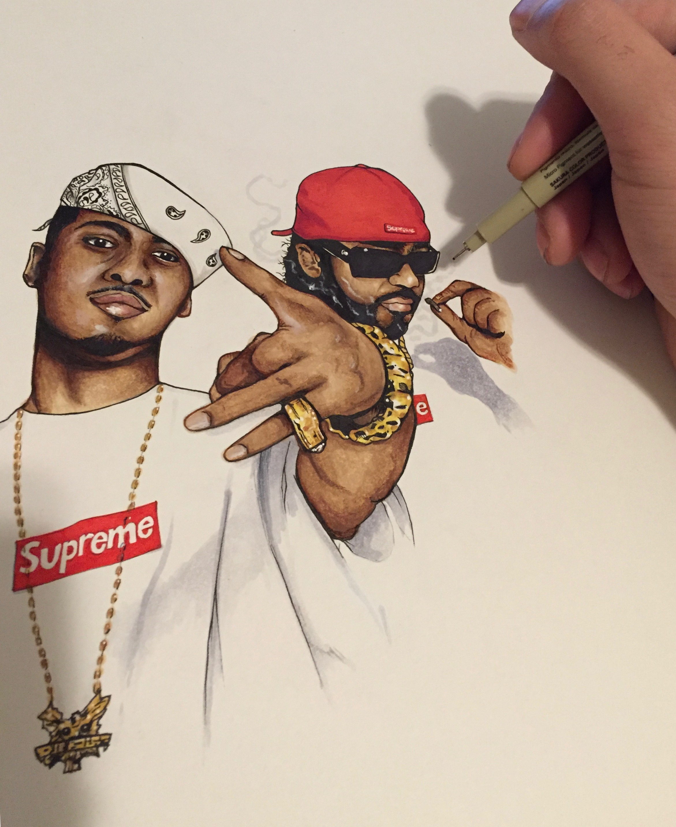 Juelz Santana x Jim Jones in Supreme by Nover, 2015.