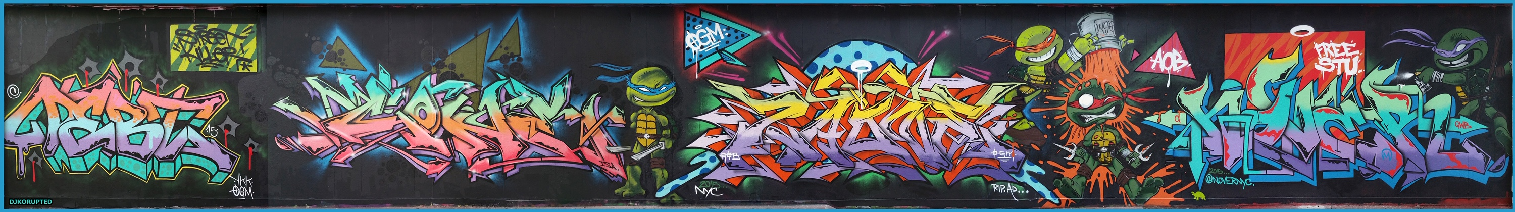 TMNT Wall Production, New York, NY. 2015.