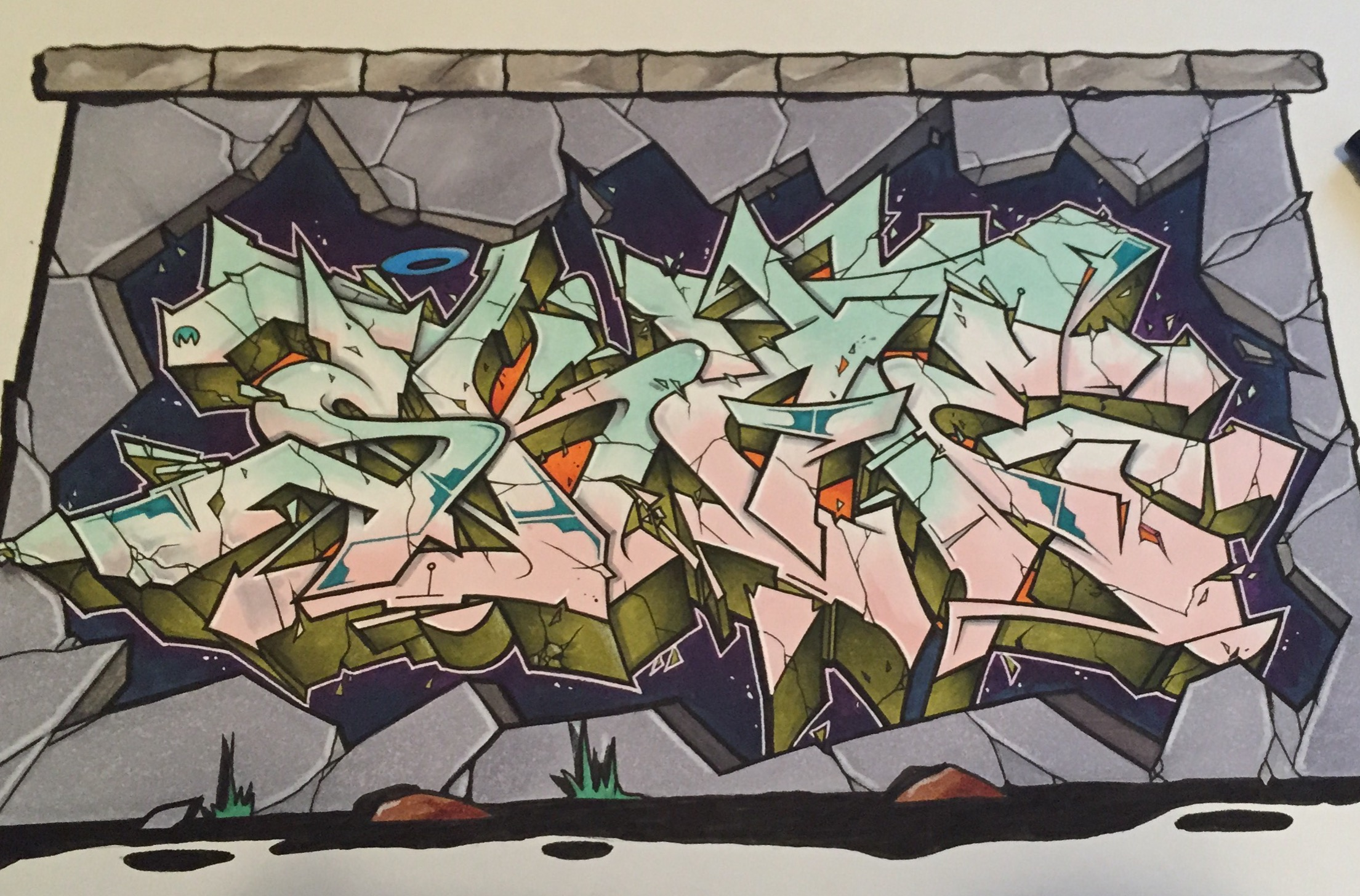 SKAE Exchange by Nover, markers & pen on paper.
