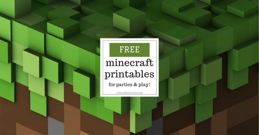 image about Minecraft Printable Pictures named Cost-free Minecraft Printables for Events and Perform