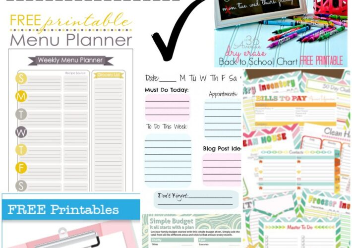 Free Printables to get you Organized