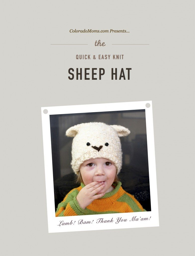 Quick and Easy Knit Sheep Hat