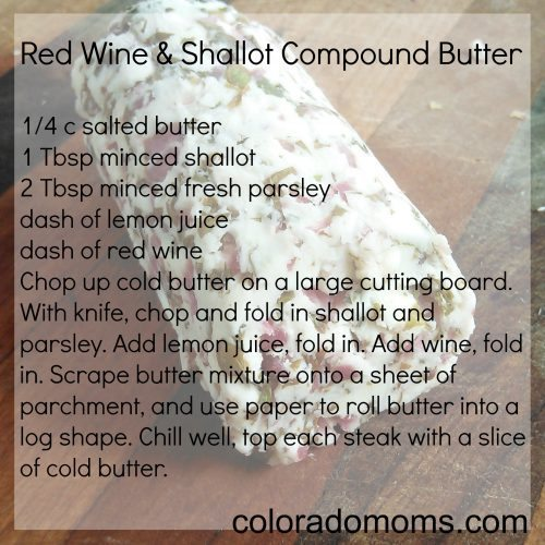 Red Wine Shallot Compound Butter