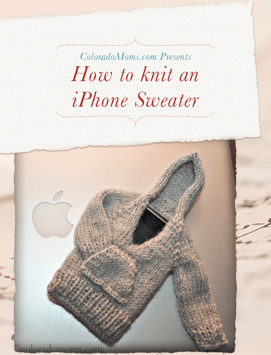 how to knit an iphone sweater