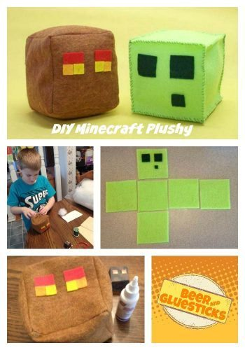 minecraft diy plush