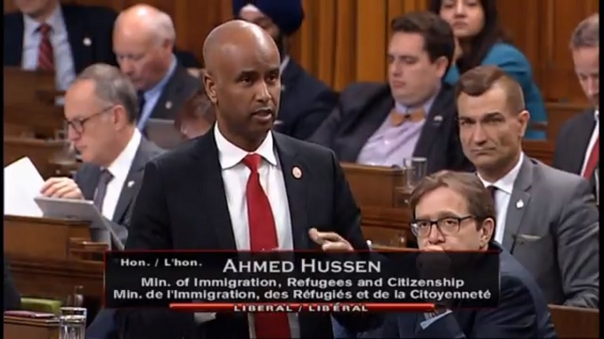 Immigration minister Ahmed Hussen on Canada's border crisis.