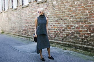 C/meo Collective from Fashion Bunker Charcoal Short Sleeve Jumper & Wrap Skirt // Charleston Blogger Dannon Like The Yogurt