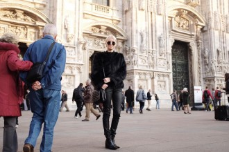 Italian Leather and Fur Milan Italy Fall 2015 street style // Charleston Fashion Blogger Dannon Like The Yogurt