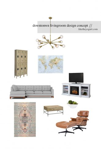 Downtown Charleston living room design concept modern mid century home // charleston blogger dannon k collard like the yogurt