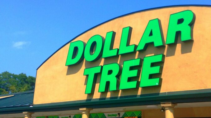 dollar tree sign on a building
