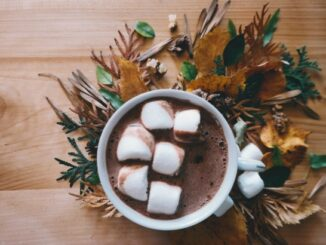 hot cocoa in a cup
