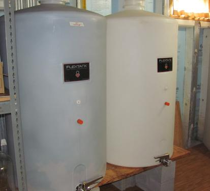 Two storage tanks in New Vines' basement