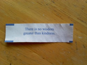 No wisdom greater than kindness