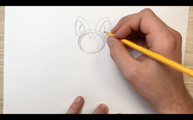 emolga pokemon drawing lesson step 5