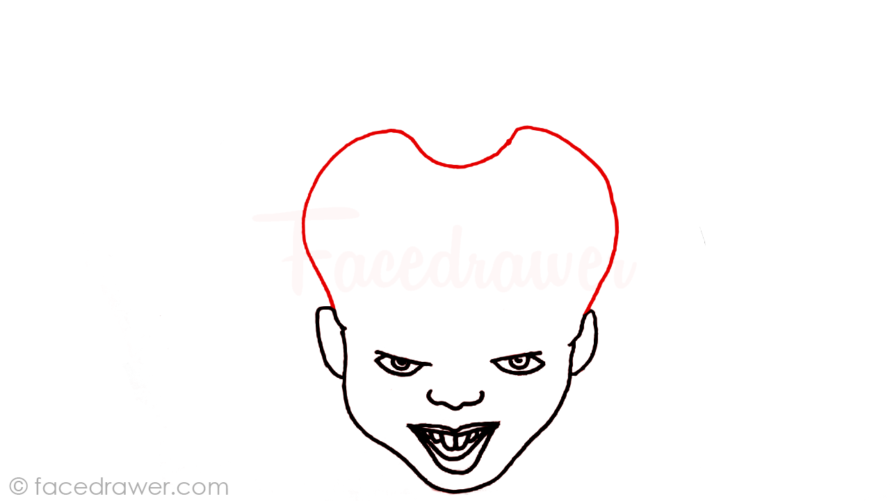 how to draw pennywise step 6