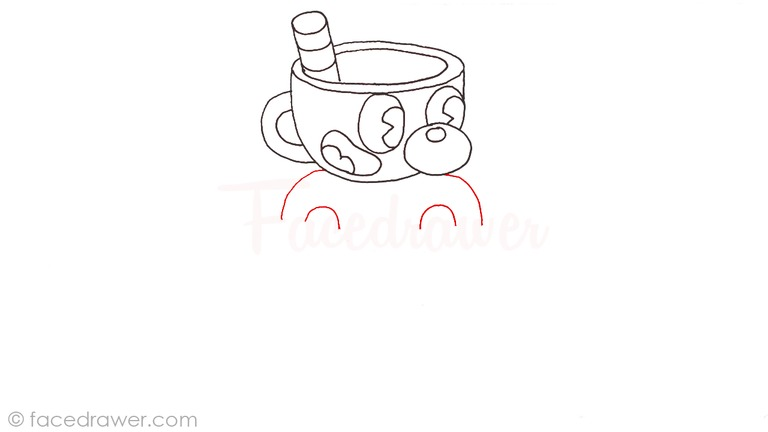 how to draw mugman cuphead step 8